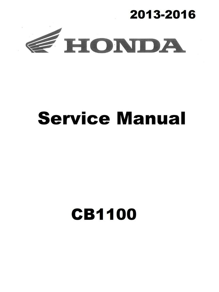honda cb1100 2013 2014 2015 2016 cb 1100 service manual in 3 ring rh ebay com