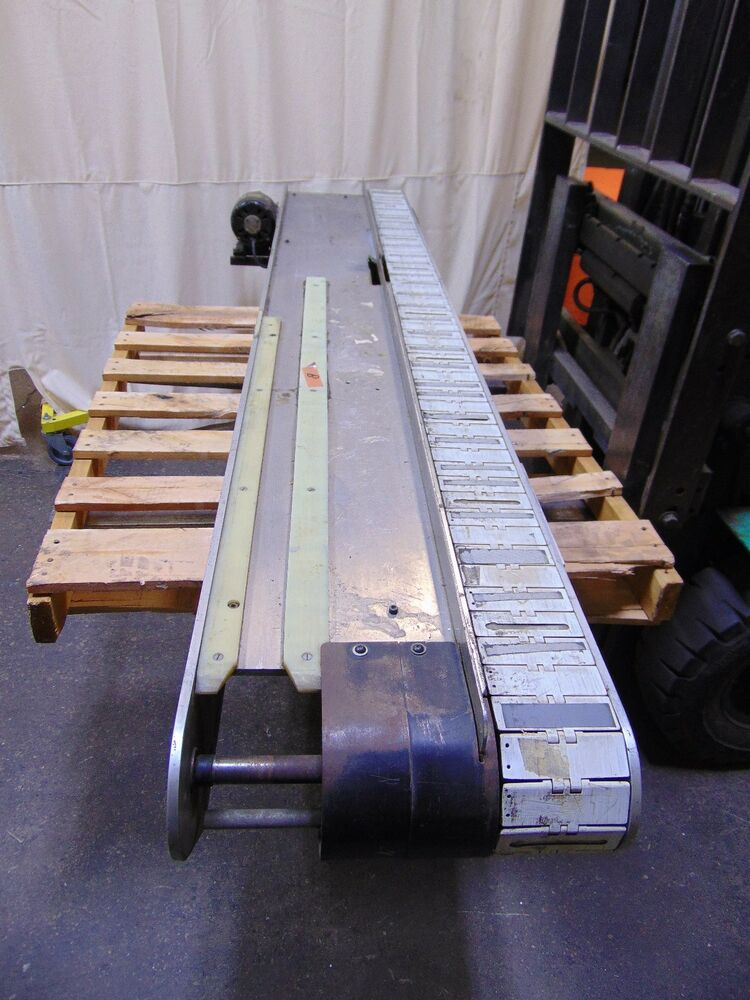 8 Long Plastic Table Top Chain Conveyor With 115v