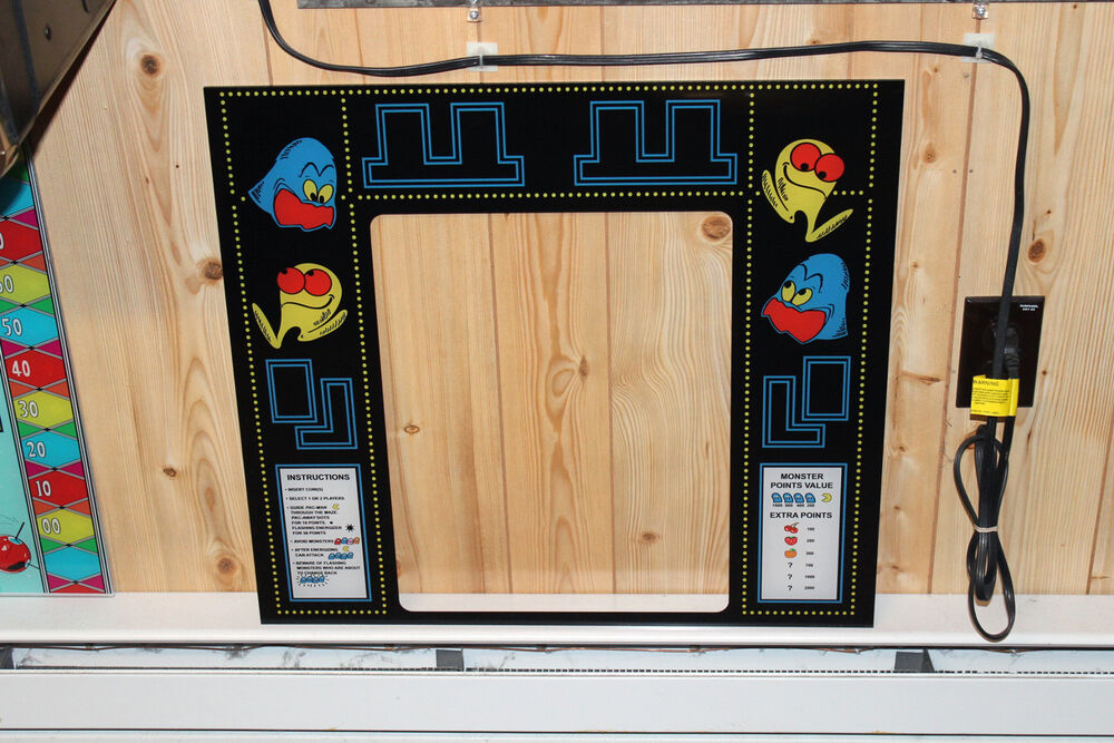 Brand New Namco Pac Man Arcade Machine Bezel Screen Print