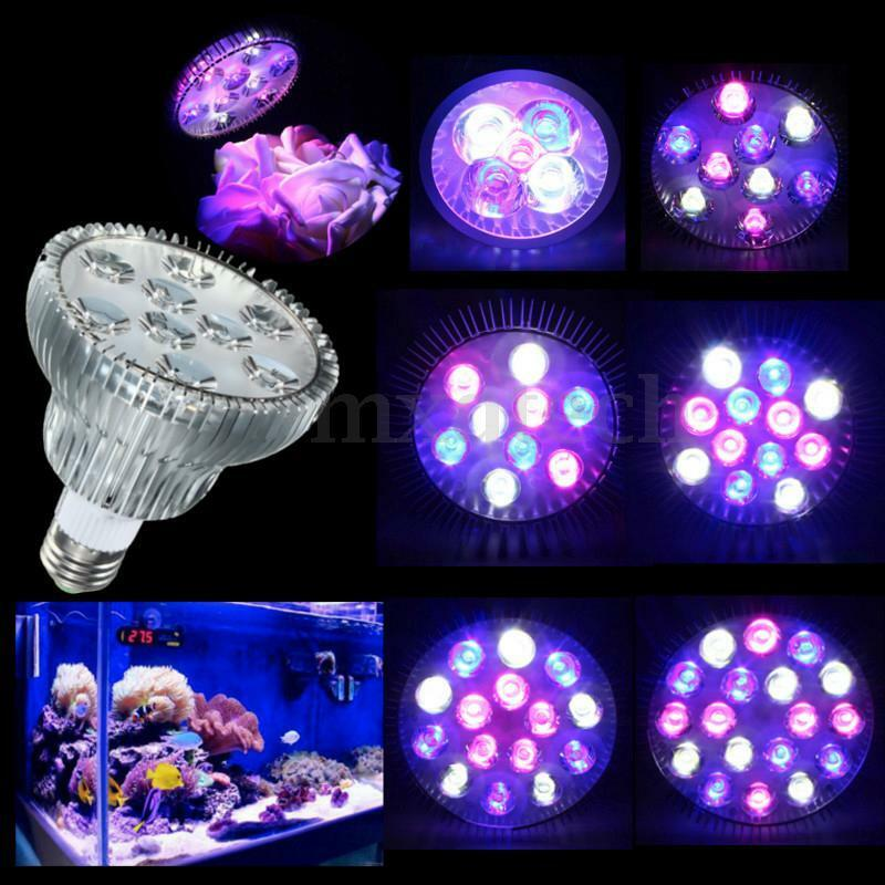 e27 led full spectrum coral reef plant grow light par38. Black Bedroom Furniture Sets. Home Design Ideas