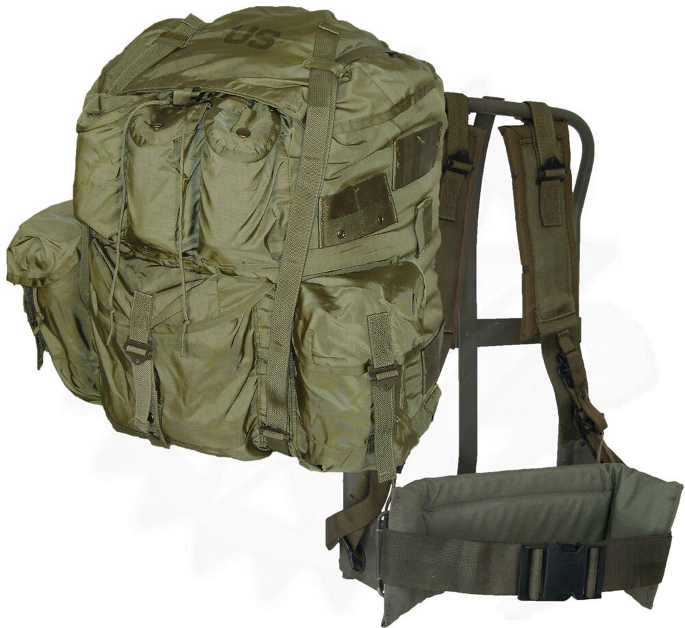 Genuine military alice pack large od green rucksack for Large a frame