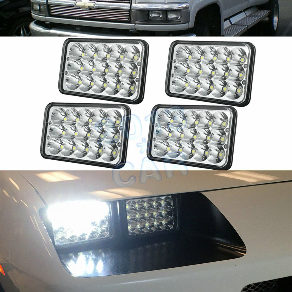4pcs led headlights for chevrolet c4500 and c5500 vehicles. Black Bedroom Furniture Sets. Home Design Ideas