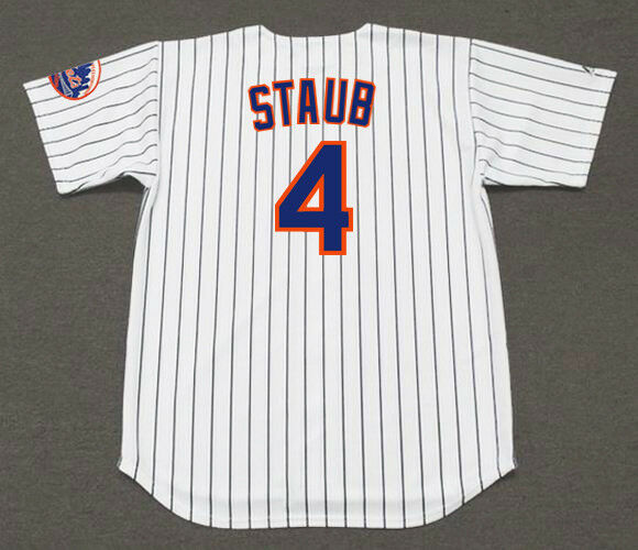 566d875f4 RUSTY STAUB New York Mets 1973 Majestic Cooperstown Home Baseball Jersey