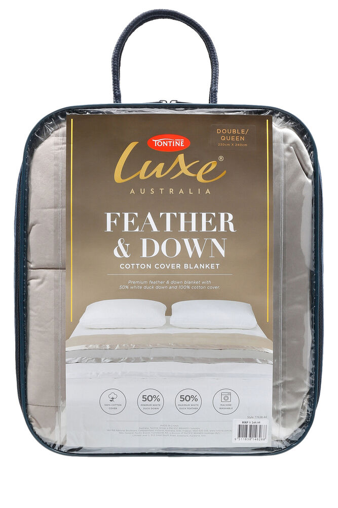 Tontine Luxe Feather Amp Down Blanket Double Queen Size In