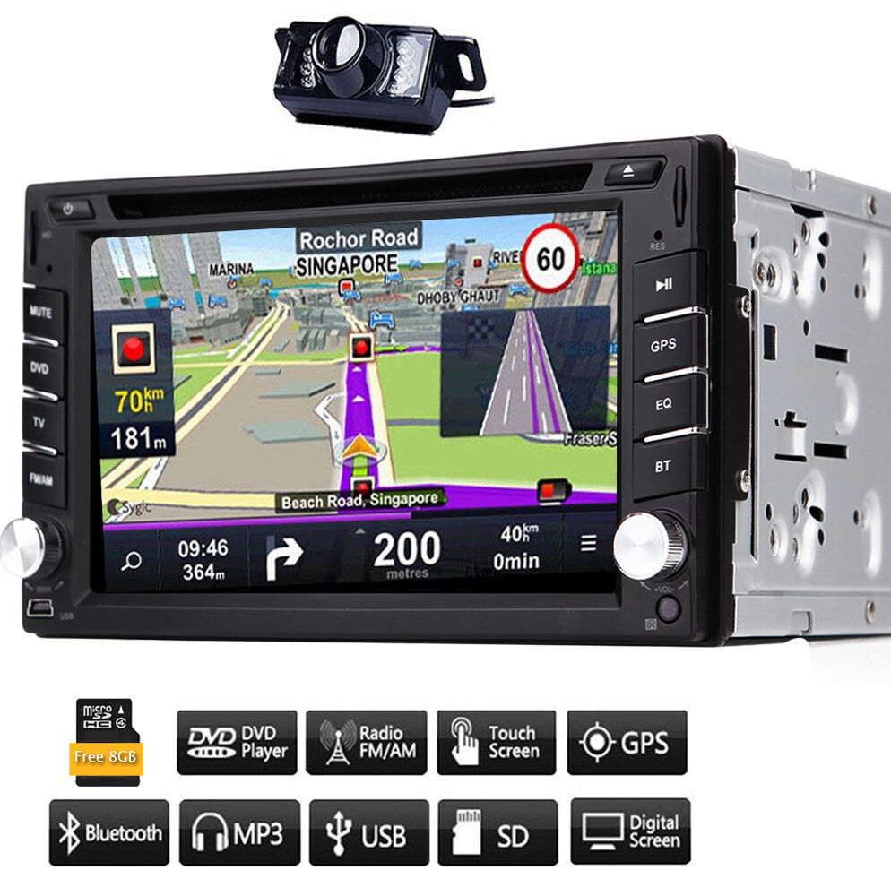 Gps Navigation For Cars : In dash vehicle gps navigation car stereo dvd player din