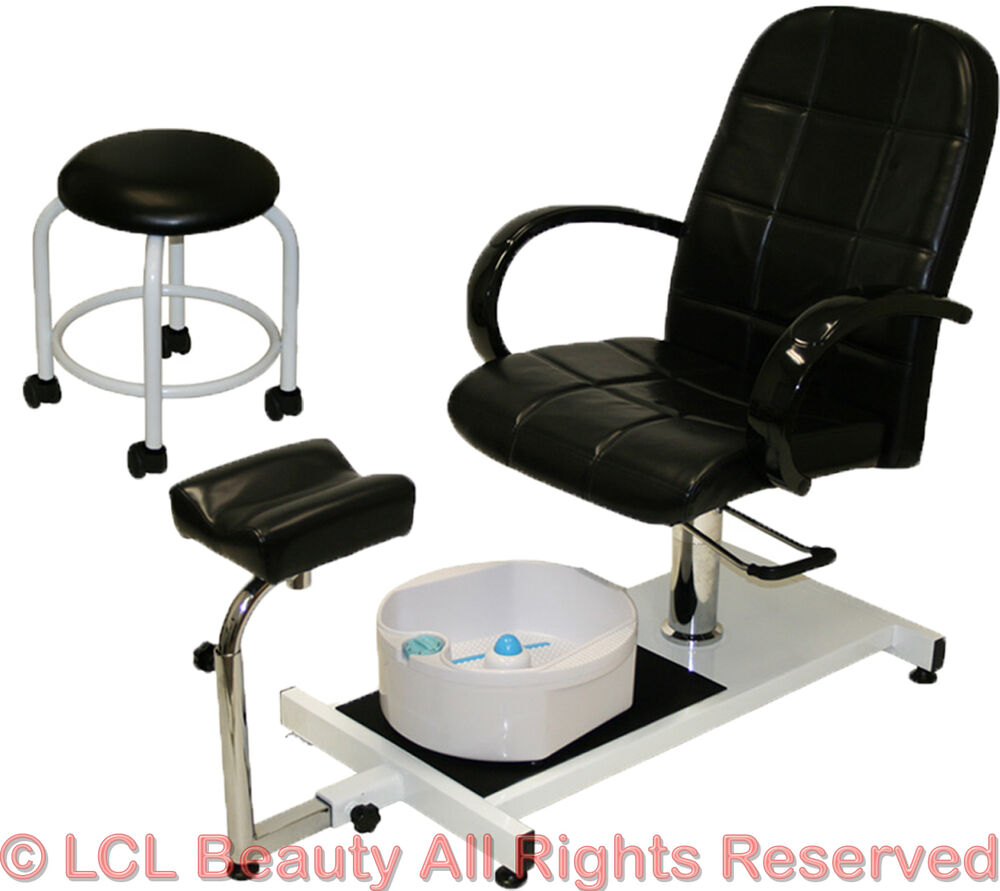 Pedicure unit station hydraulic chair massage foot spa for Salon furniture makeup station