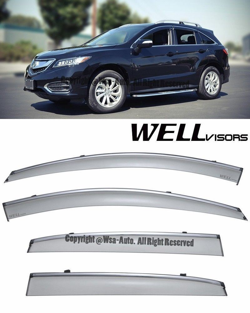 For 13-16 Acura RDX WellVisors Side Window Visors Rain