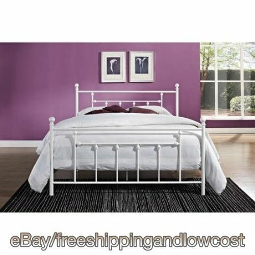 Furniture Footboard Headboard White Full Size Bed Frame