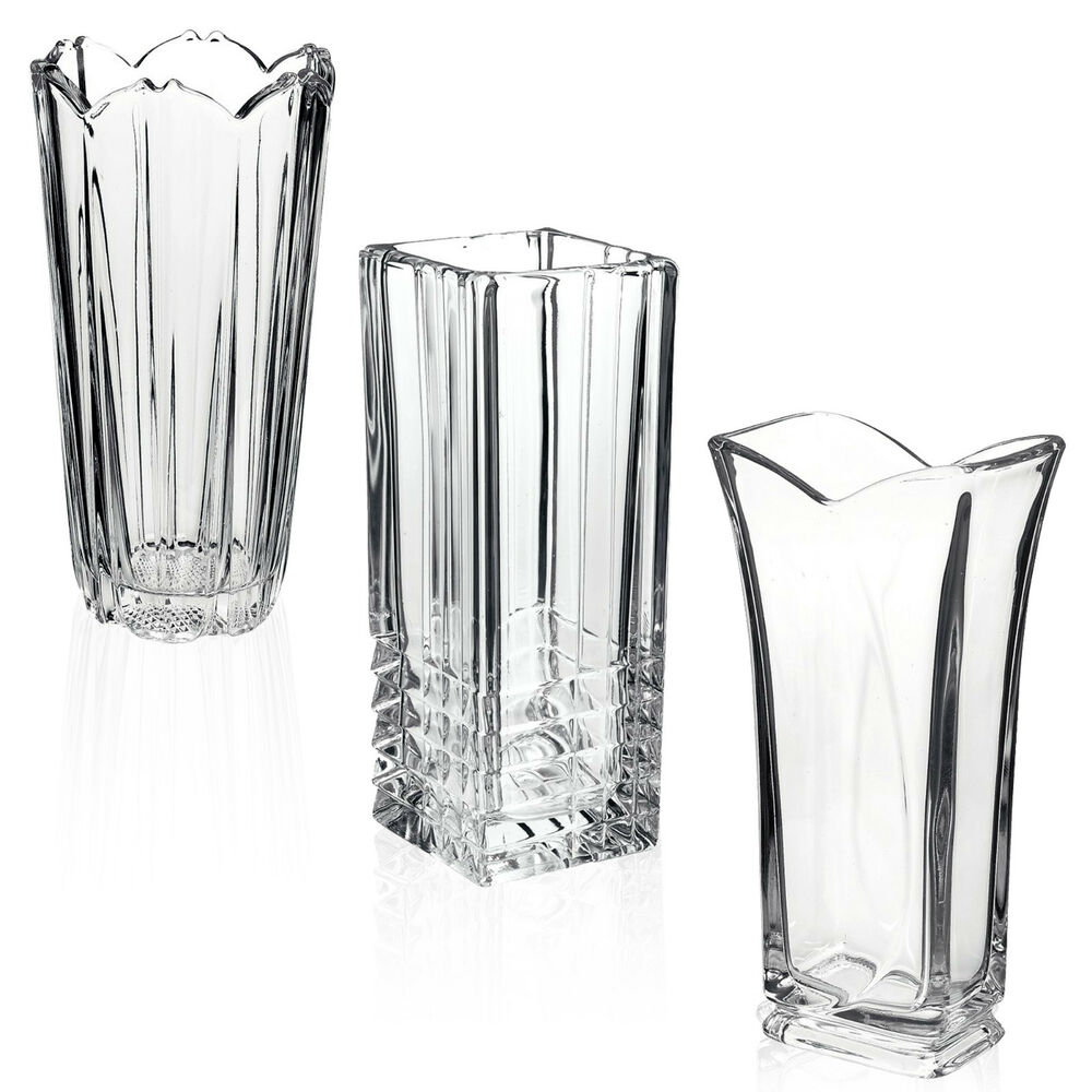 Flower Vases For Weddings: Bormioli Rocco Clear Heavy Glass Flower Vase Decoration