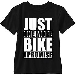 Just One More Bike I Promise Short Sleeve T Shirt Gildan With Crossed Fingers