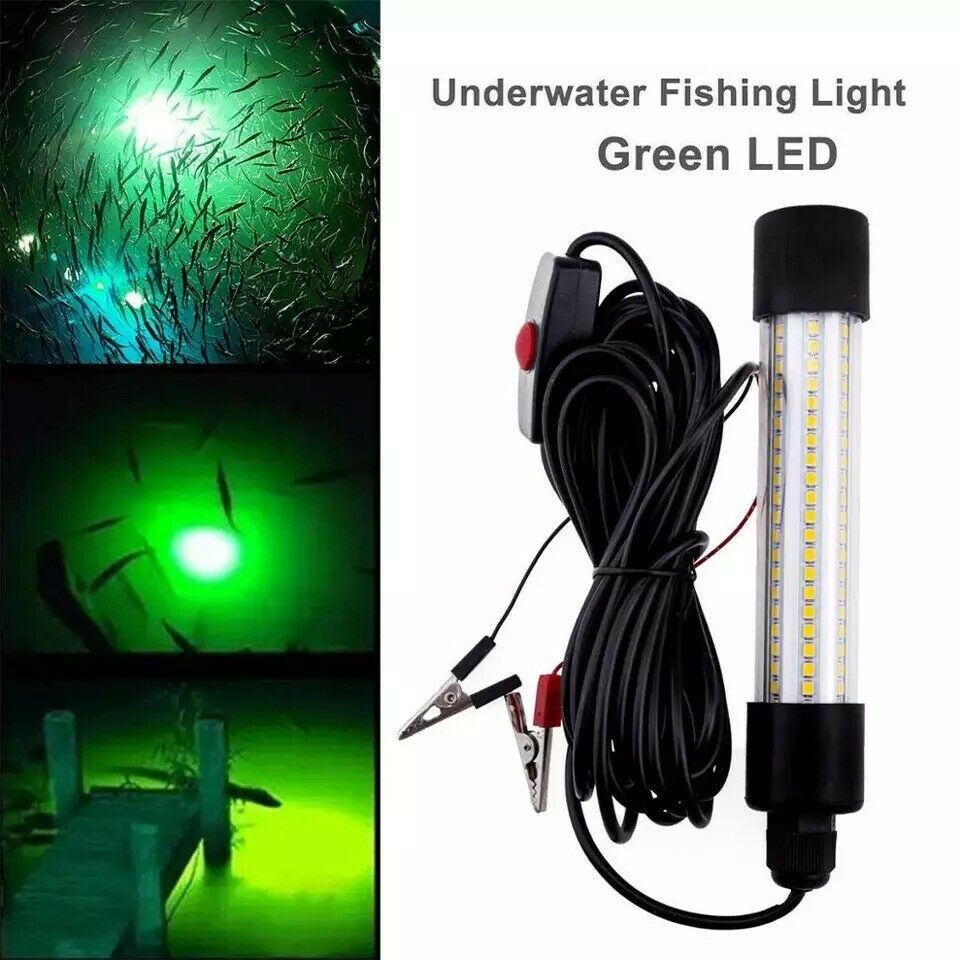 12 24v led green fishing light underwater submersible ebay
