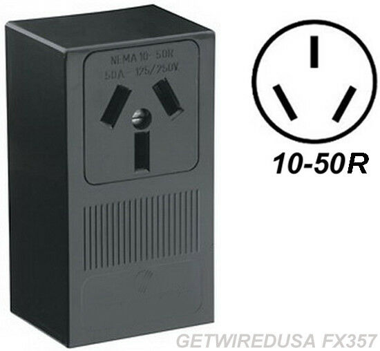 Range Stove Oven Wall Outlet Female 10 50r 3 Prong Plug In