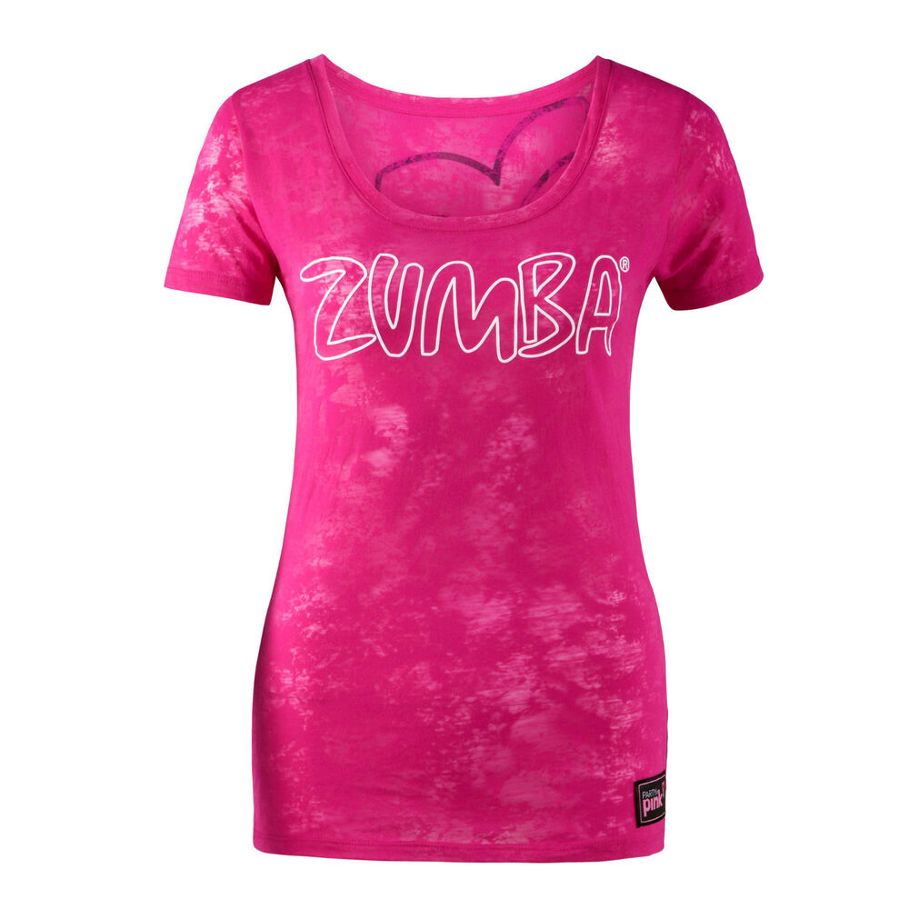T-shirt design for zumba - Zumba Fitness Party In Pink Groove For The Cure Crew Neck Tee Tshirt S Burnout
