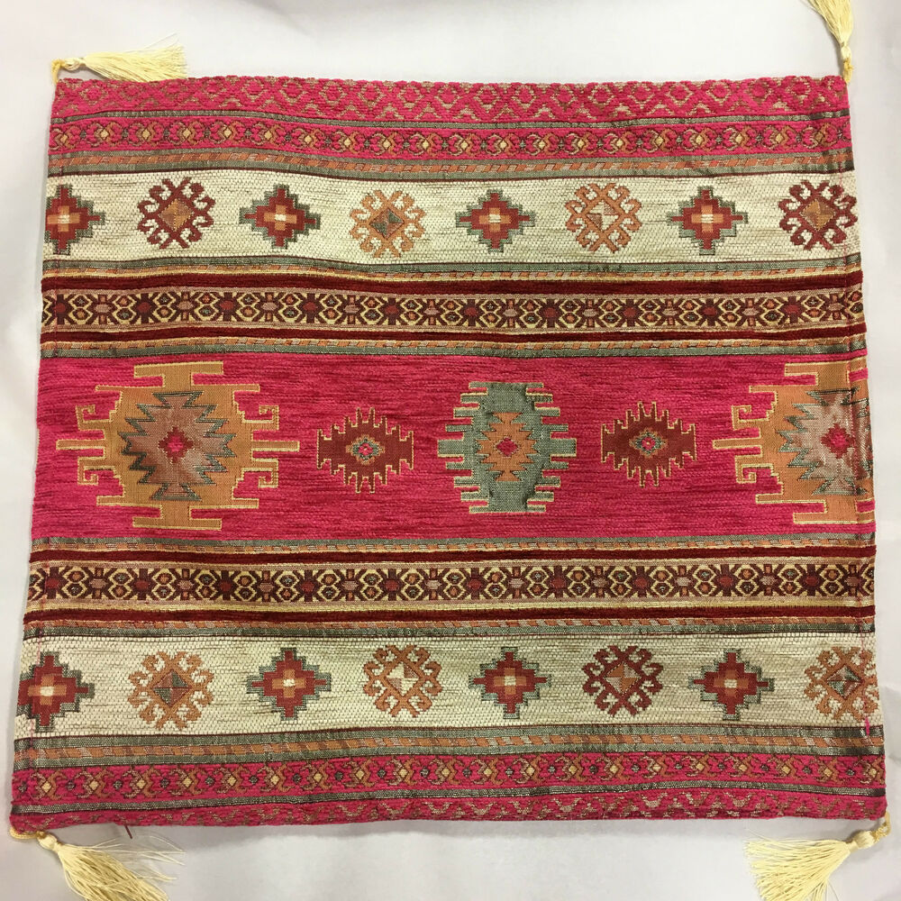 Turkish kilim rug design pillow covers ebay for Kilim designs