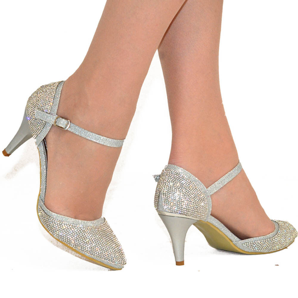 Silver Evening Womens Shoes