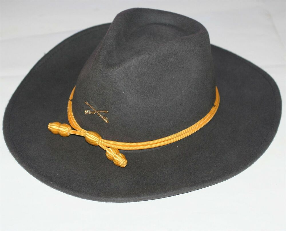 Details about CONFEDERATE CSA REBEL Civil War Cavalry Crossed Sabers  OFFICERS SLOUCH WOOL HAT a8ca24631b8
