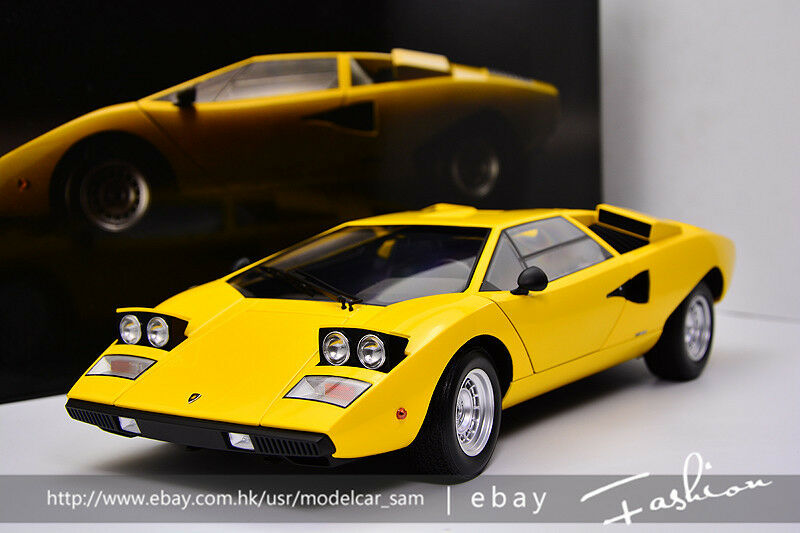 Kyosho 1 12 Lamborghini Lp400 Countach Yellow No Autoart 1