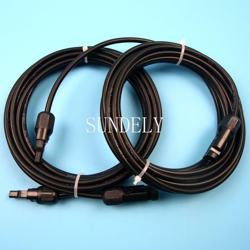 Solar Panel Extension Cable : Pair of m extension cable leads mm for solar panels