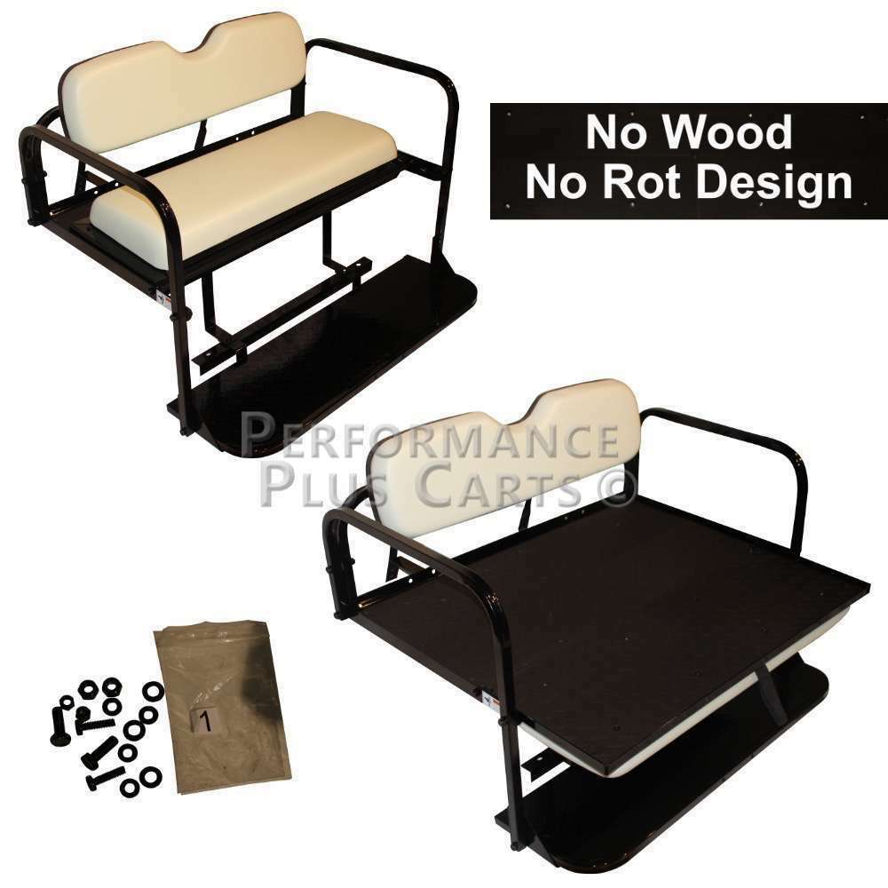 Yamaha G14 G16 G19 G22 Golf Cart Flip Folding Rear Back Seat Kit