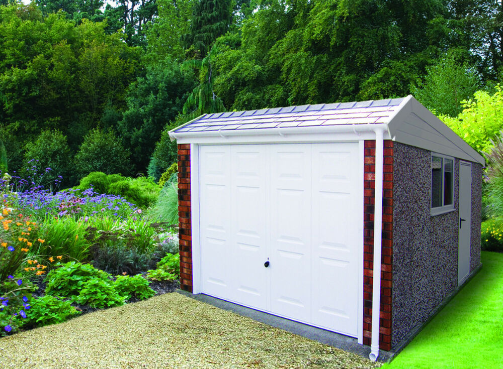 Single Concrete Sectional Garage With Pent Roof The Duke