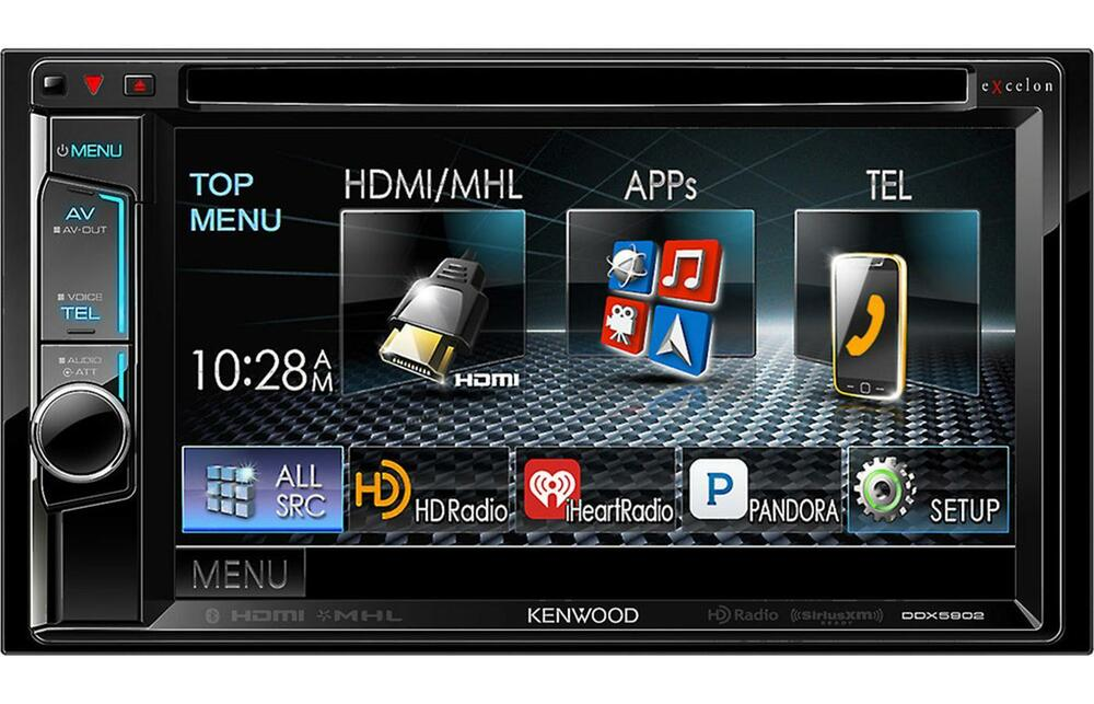 kenwood ddx5902 double din 6 2 dvd receiver w built in. Black Bedroom Furniture Sets. Home Design Ideas