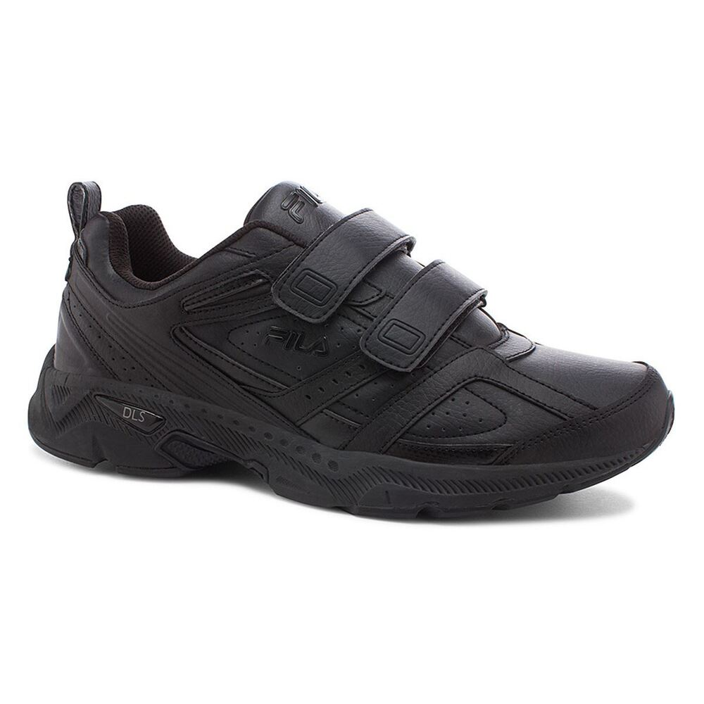 Fila Mens CAPTURE 2 STRAP Black Comfort Running Walking 4E ...