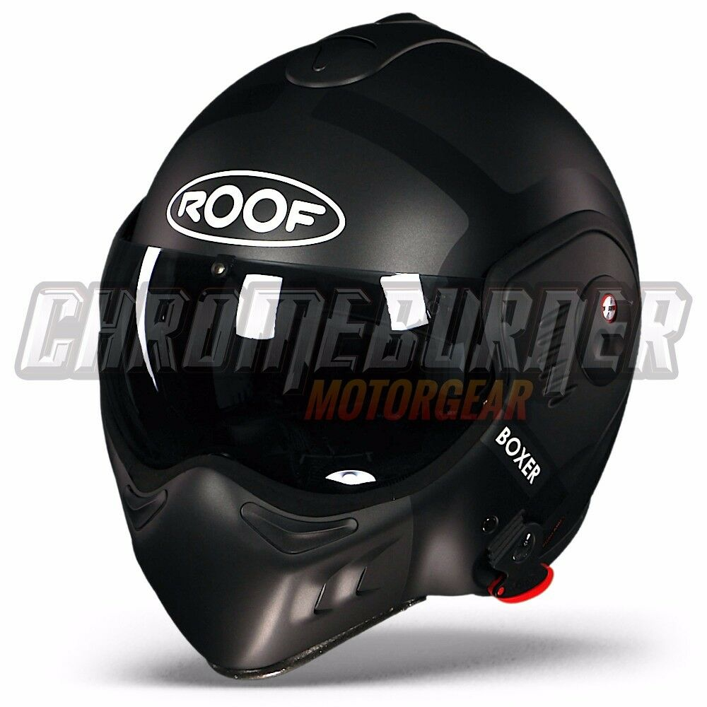 roof boxer v8 bond titan matt black helmet extra visor. Black Bedroom Furniture Sets. Home Design Ideas