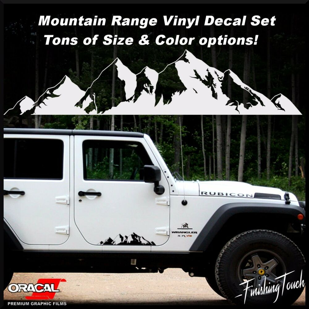 Details about mountain off road door body vehicle decal sticker car truck rv northwest jeep vw