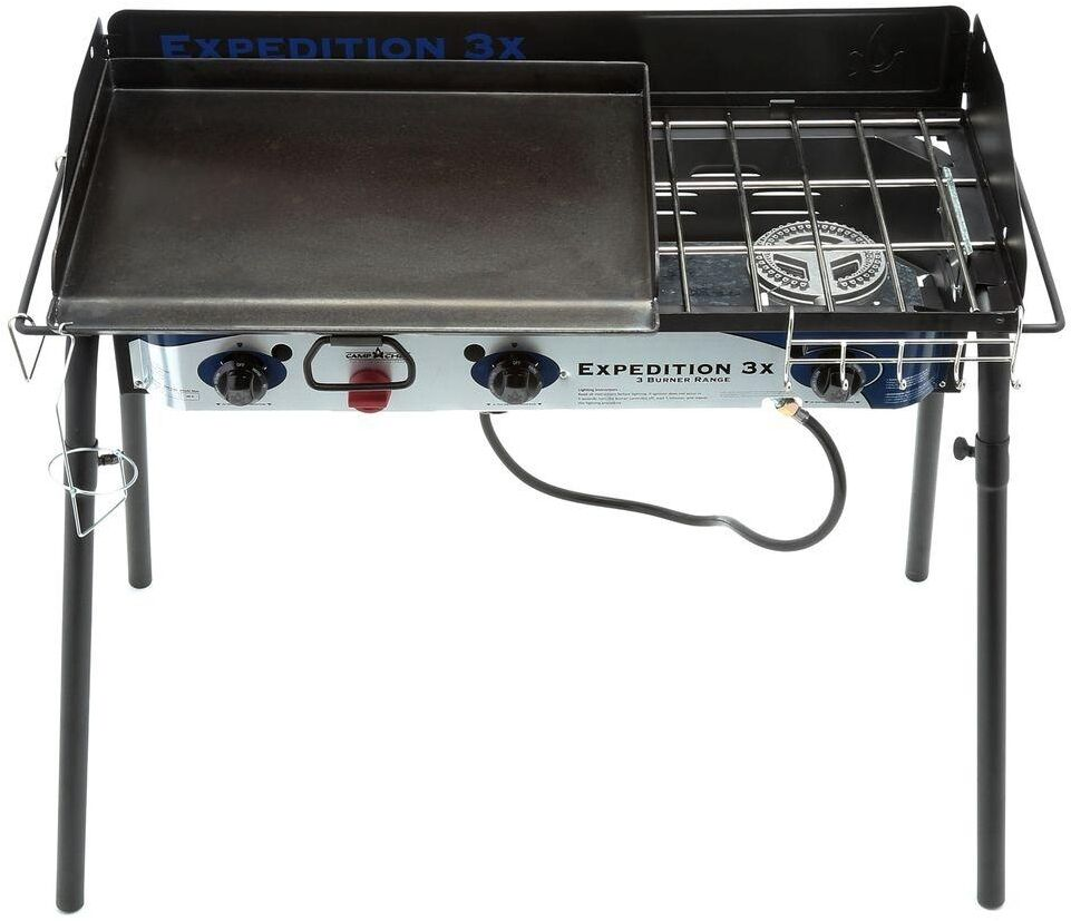 Expedition Triple Burner Propane Gas Stove and Griddle ...