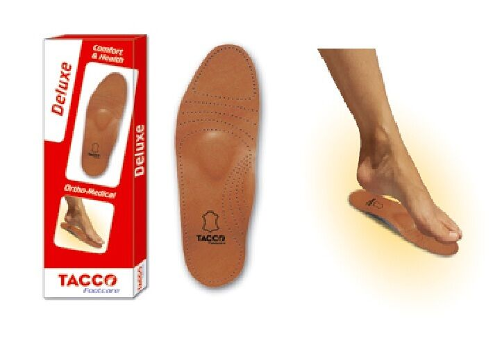 Tacco 694 Deluxe Orthotic Arch Support Leather Shoe Insoles Inserts