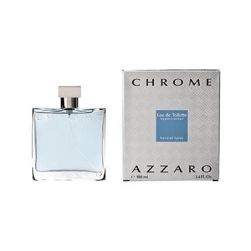 Chrome by azzaro 3 4 oz edt cologne for men new in box ebay for Chrome azzaro perfume