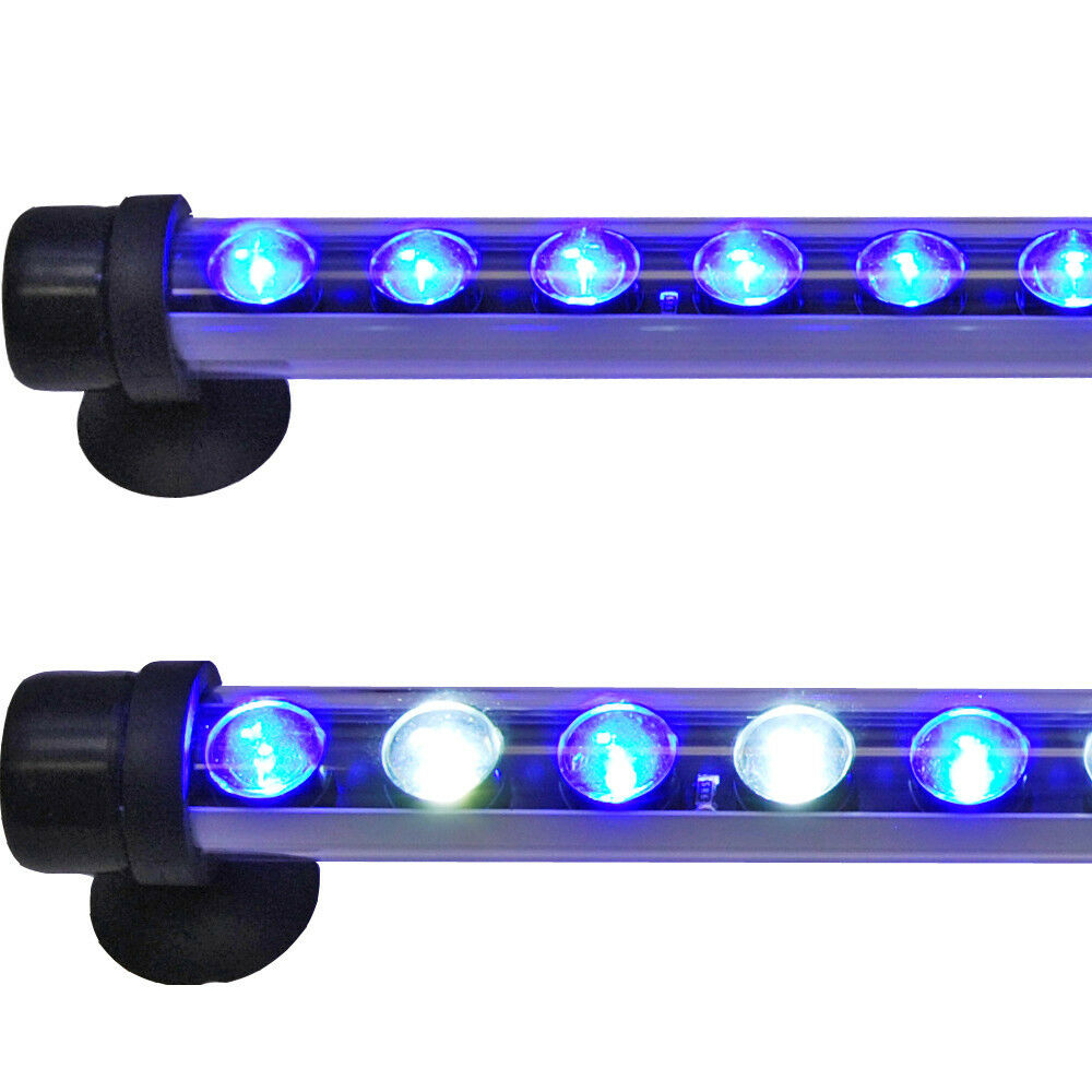 led sub 22 3w submersible aquarium light accent 12x 3 watts actinic 10000k new ebay. Black Bedroom Furniture Sets. Home Design Ideas