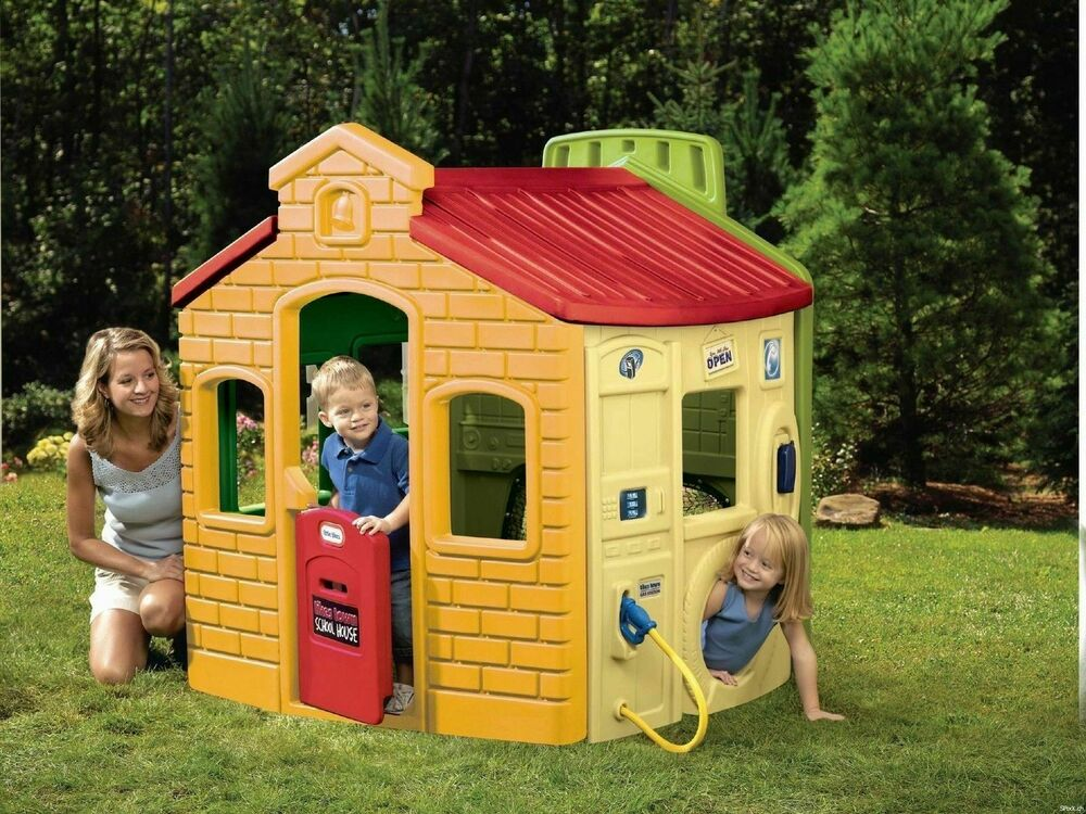 little tikes spielhaus f r kinder gartenhaus kinderhaus kinderspielhaus 444d ebay. Black Bedroom Furniture Sets. Home Design Ideas