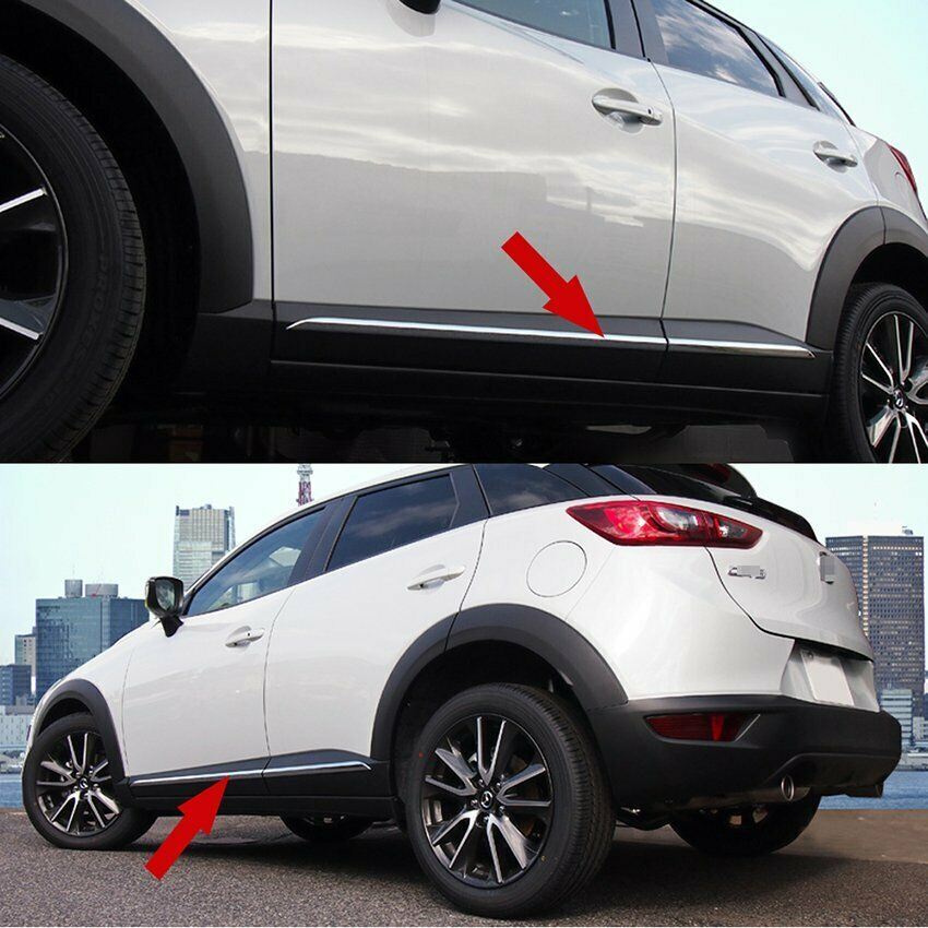 Abs Chrome Car Body Side Overlay Molding Cover Trim For