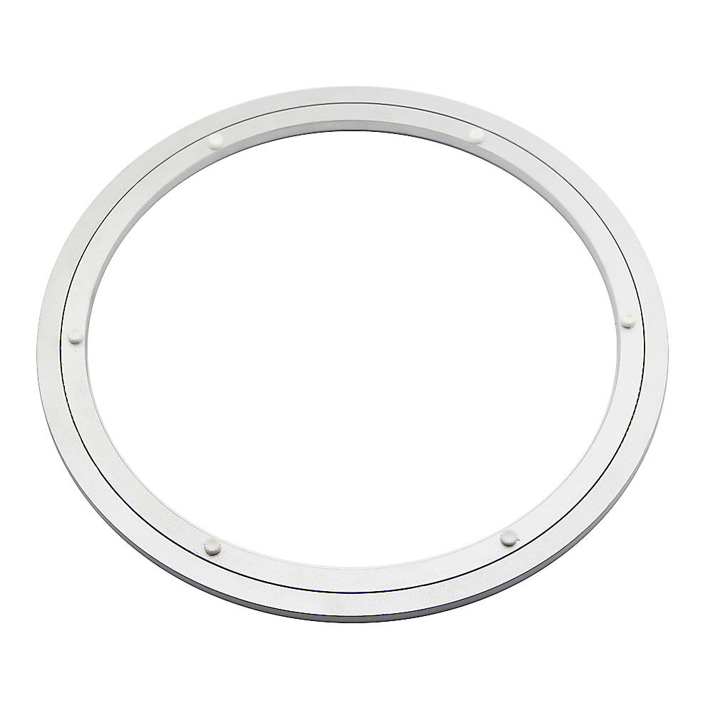 aluminum lazy susan turntable bearings for dining table diameter 350mm ebay. Black Bedroom Furniture Sets. Home Design Ideas