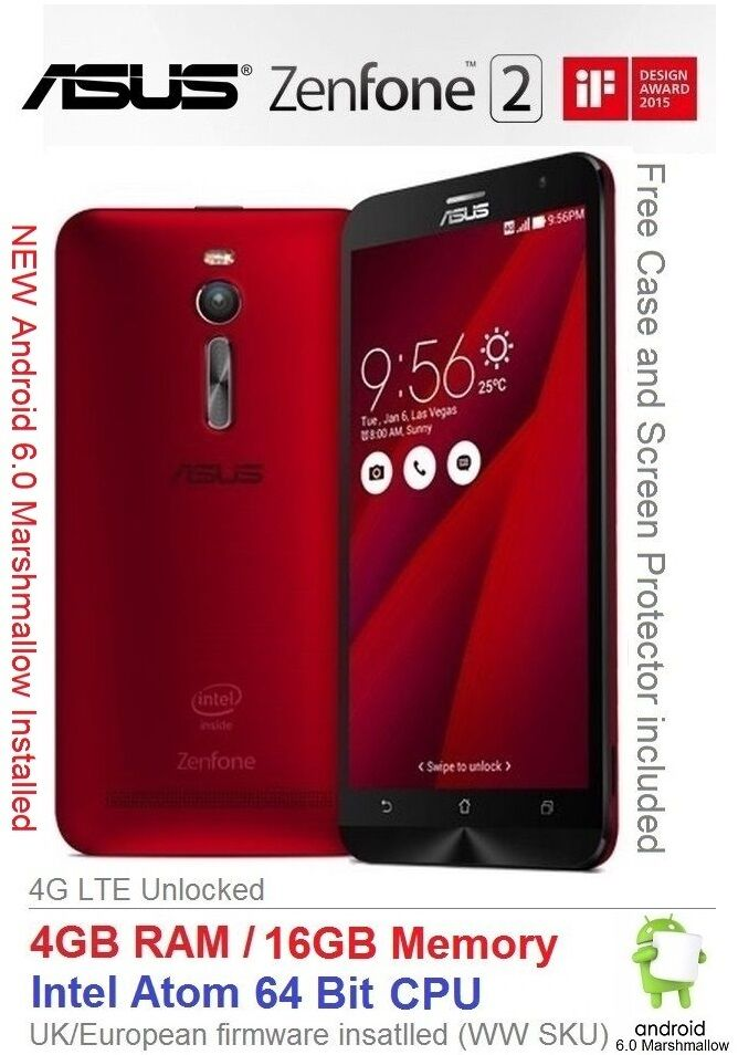 asus zenfone 2 ze551ml 5 5 android 6 smartphone dual sim 4gb ram intel 4g new ebay. Black Bedroom Furniture Sets. Home Design Ideas