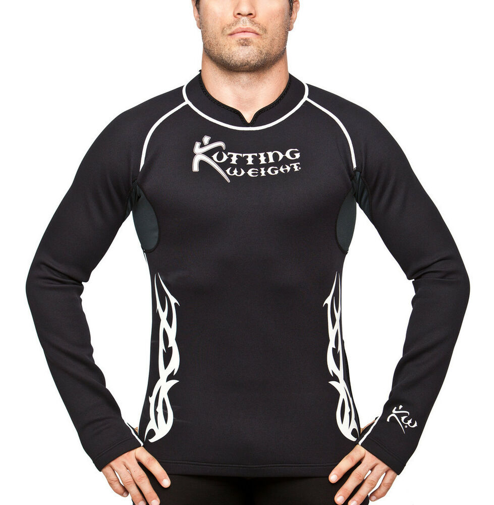 Kutting weight sauna suit weight loss neoprene long sleeve for How to not sweat through shirts