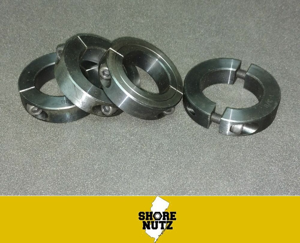Quot bore double split new clamping shaft collar black