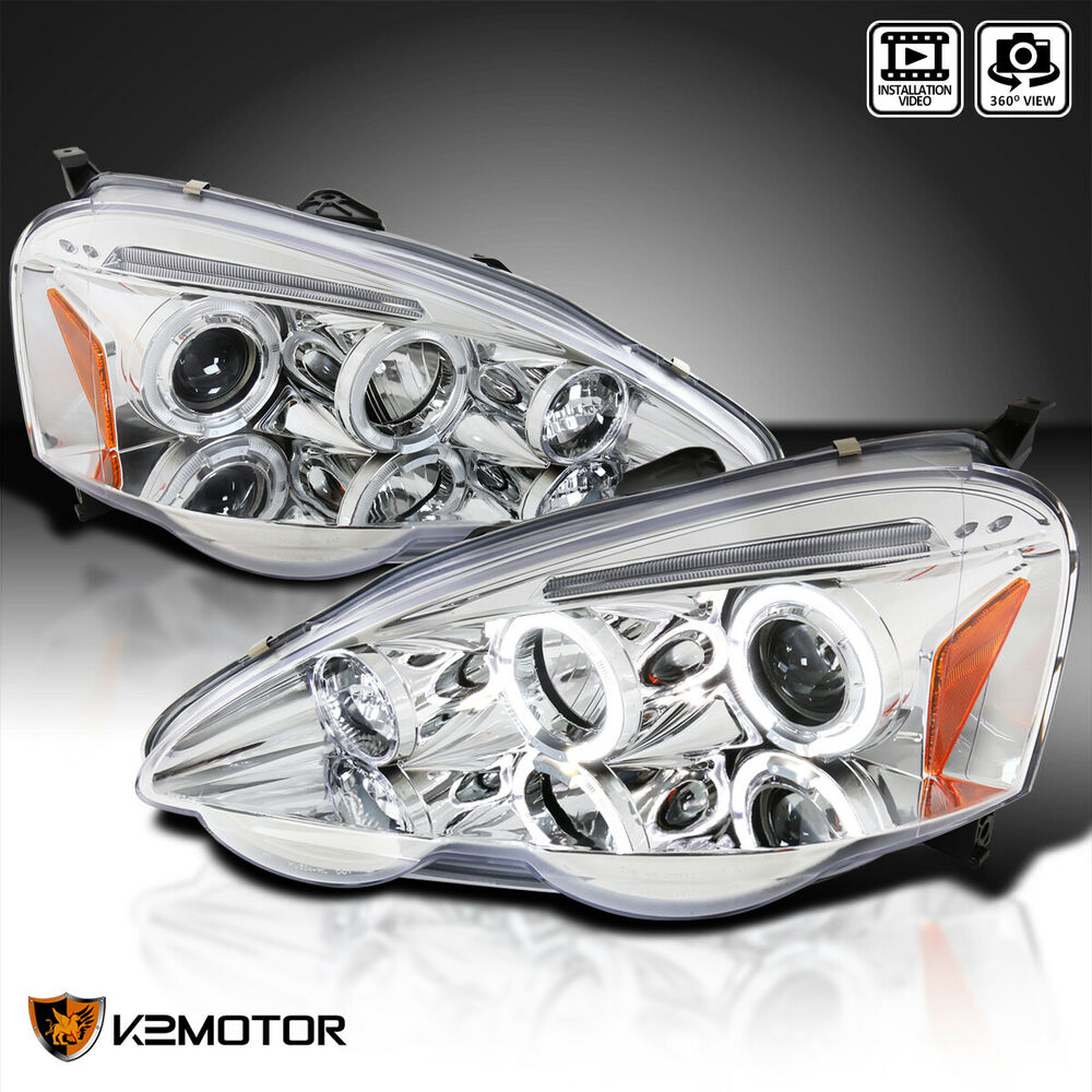 2002-2004 Acura RSX Dual Halo Projector Headlights Left