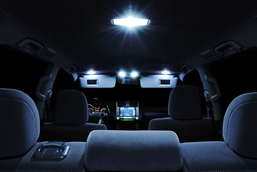 white interior led llights package combo kit for 06 07 08 09 10 11 dodge charger ebay. Black Bedroom Furniture Sets. Home Design Ideas