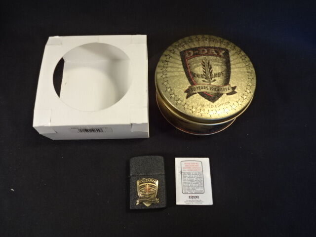 D Day Normandy 50 Years 1944 1994 Limited Edition Zippo Cigarette Lighter In Tin Ebay