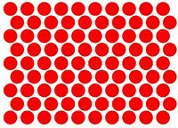 20mm circle Stickers, Qty 90 Black, Red, Blue + Others