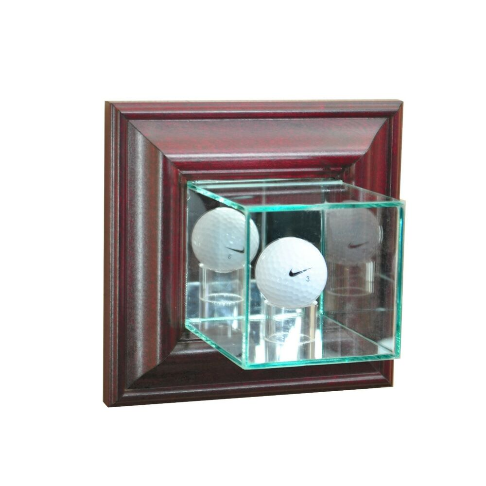 New Wall Mounted Golf Ball Glass Display Case Pga Ebay