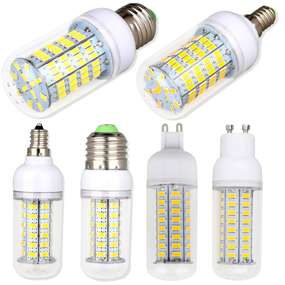 dimmable e26 e12 e27 e14 g9 gu10 led corn bulb 5730 smd light white lamp bright ebay. Black Bedroom Furniture Sets. Home Design Ideas