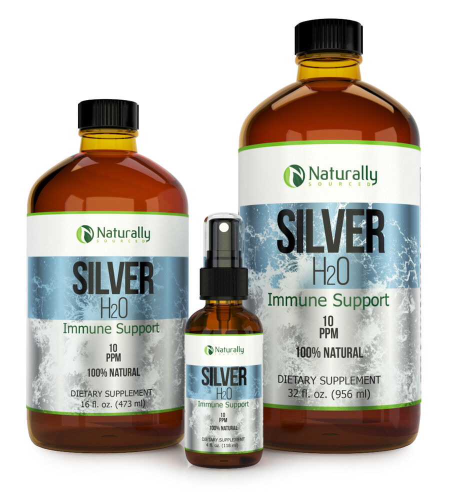 Colloidal Silver Immune Support Ionic Silver 10 Ppm 4