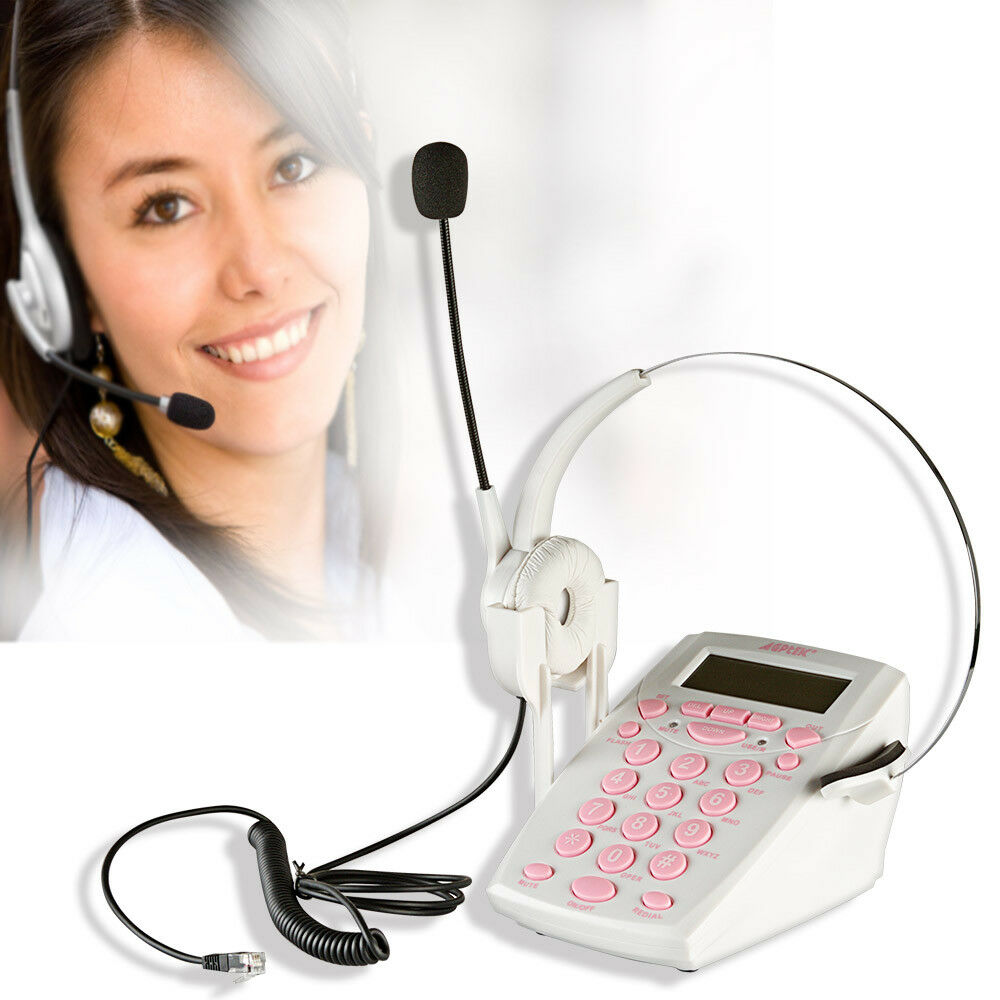 Agptek hands free binaural telephone headset with noise canceling mic mute ebay - Phone headsets for office ...