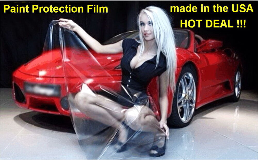 car paint protection film hood 48 x 60 vinyl clear bra oracal made in usa sale ebay. Black Bedroom Furniture Sets. Home Design Ideas