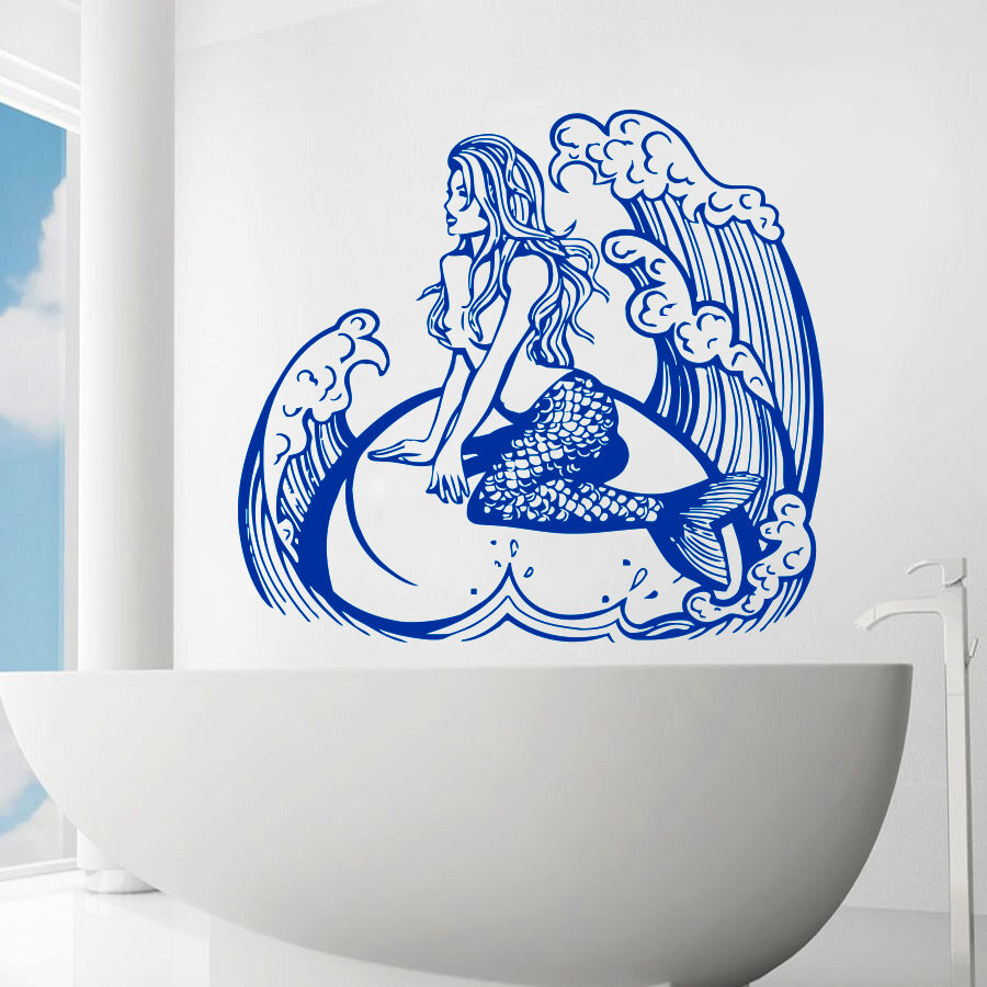 Mermaid Wall Decals Sea Decal Shower Vinyl Stickers ...