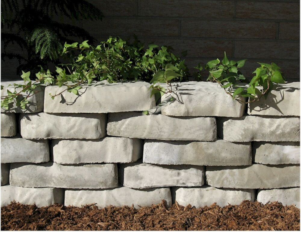 Plastic Stone Walls : Plastic molds for concrete natural edge retaining wall