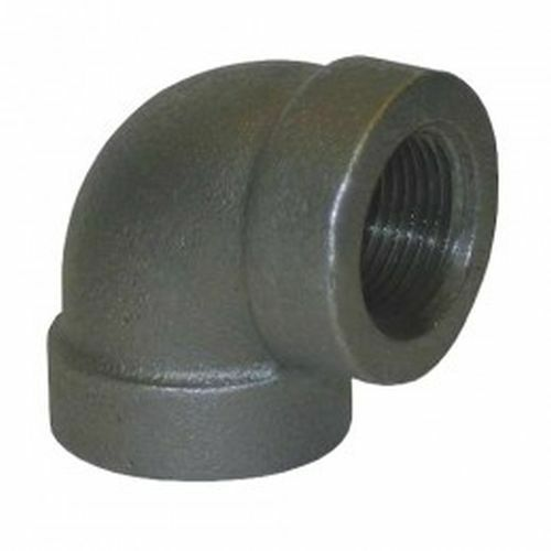 Quot black iron pipe threaded degree elbow fittings for